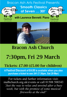 BAA Festival: 'Smooth Classics at Seven ... 30!' with Laurence Bennett - Piano