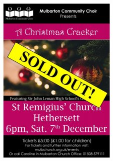 SOLD OUT: Mulbarton Community Choir's 'A Christmas Cracker' Christmas concert