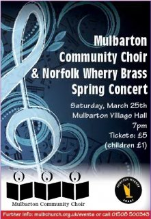 Spring Concert: Mulbarton Community Choir and Norfolk Wherry Brass