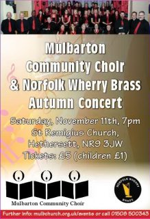 Autumn Concert: Mulbarton Community Choir and Norfolk Wherry Brass