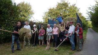 Hethel Churchyard Mow and Drag Off